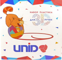 Набор пластика для 3D ручек: UNID PRO-9 (по 10м. 9 цветов)