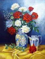 Натюрморт с цветами в вазе Картина 40х50