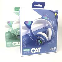 Беспроводные наушники STN-28 с ушками HEADSET CAT