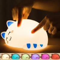 ночник силиконовый спящий кот WH 008 SILICONE LAMP