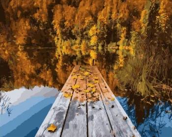 Осеннее озеро Картина 40х50