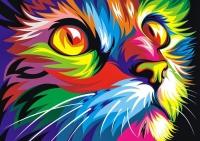 Радужный кот Картина 40х50