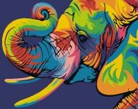Радужный Слон Картина 40х50