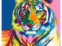 Радужный тигр Картина 40х50