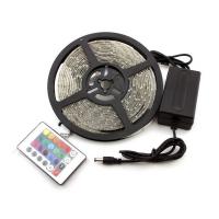 Светодиодная лента RGB 30-2 5 метров пульт управления, блок питания