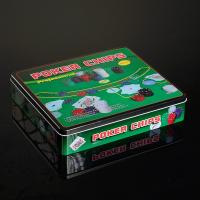 Покер, набор для игры (карты 2 колоды, фишки 500 шт, сукно) 29х33 см