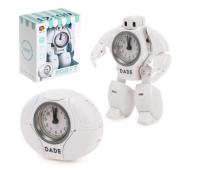 Робот «Будильник», трансформируется, звуковые эффекты, цвет белый