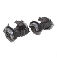 Ролики раздвижные для обуви, мини, светящиеся колеса, РVC, d=70 мм, до 70 кг, ширина 6-10 см, цвет чёрный