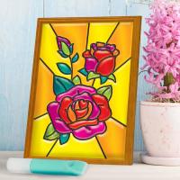 Витражная мини-картина «Розы» 10х15
