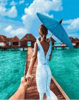 Следуй за мной. Мальдивы GX 24483 Картина 40х50