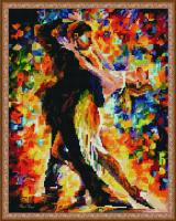 Танец в листопаде алмазная вышивка 40х50