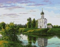 Церковь на берегу Картина 40х50