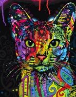Цветной кот Картина 40х50