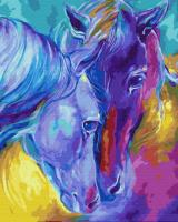Цветные лошади ZX 22612 Картина 40х50