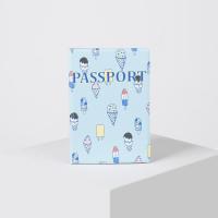 Обложка для паспорта, цвет голубой