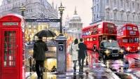 Улочки Лондона Картина 40х50