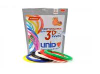UNID Набор пластика для 3D ручек: PLA-6 (по 10м. 6 цветов в коробке)