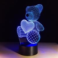 Светильник 3D медвежонок 3094