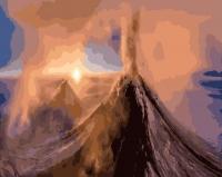 Вулкан Ключевская сопка Картина 40х50