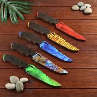Сувенир деревянный нож 1 модификация, 5 расцветов в фасовке, МИКС 4833289