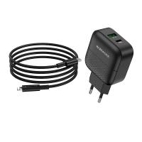 Зарядное устройство BOROFONE BA46A 18W PD+QC3.0