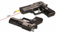 Зажигалка в виде пистолета турбо с Лазером газовая